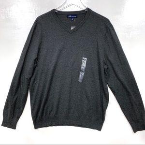 JA John Ashford V-neck Pullover Sweater L Cotton